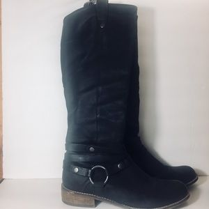 [Steven by Steve Madden] black leather boots cute